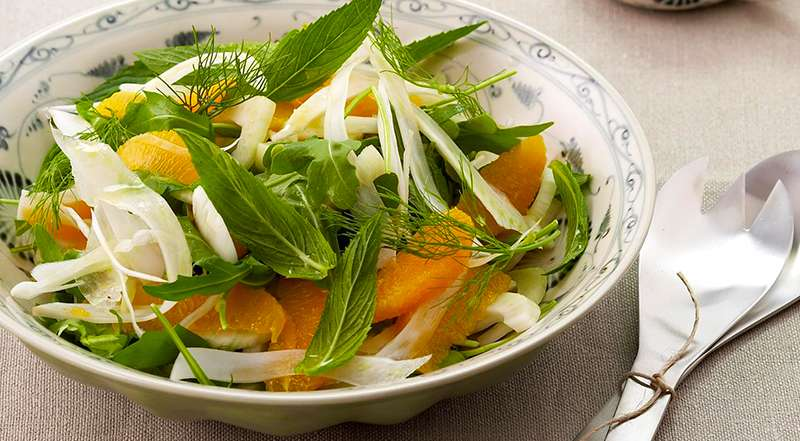 Fennel Salad With Rocket & Blood Oranges