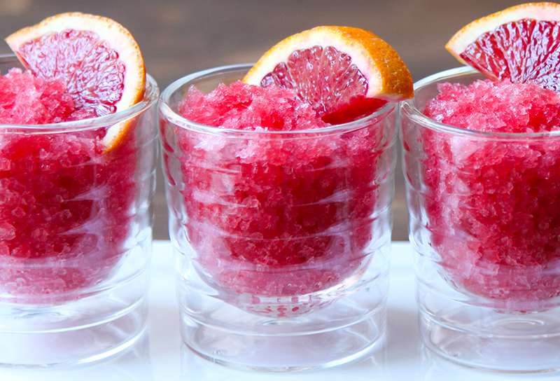 Sweet & Delicious Blood Orange Granita